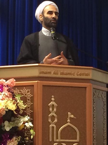 سخنرانی در مسجد امام علی استهکلم سوئد پیرامون مباحث امامت و مکتب علمی امام صادق (ع)